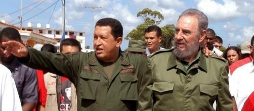 Nella foto Fidel Castro e Hugo Chavez
