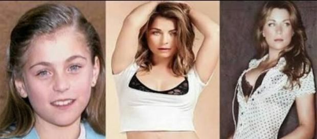 A atriz Ludwika Paleta antes e depois