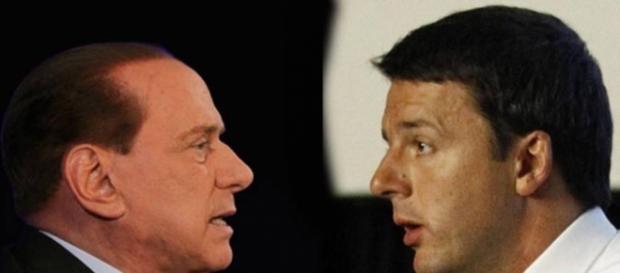 Berlusconi e Renzi ospiti a Domenica Live