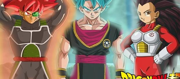 Gine, Bardock and Son Goku. The Z Warrior Family. from YouTube
