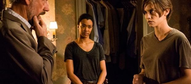 Gregory, Sasha e Maggie no 5º episódio