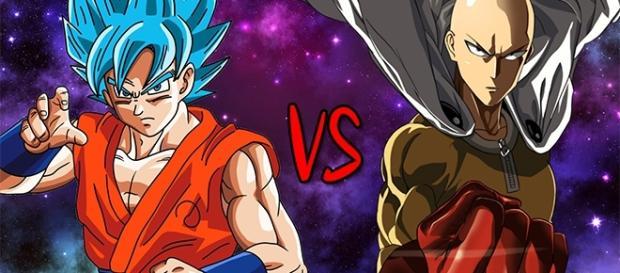 Son Goku Saiyajin Blue vs Saitama. from YouTube