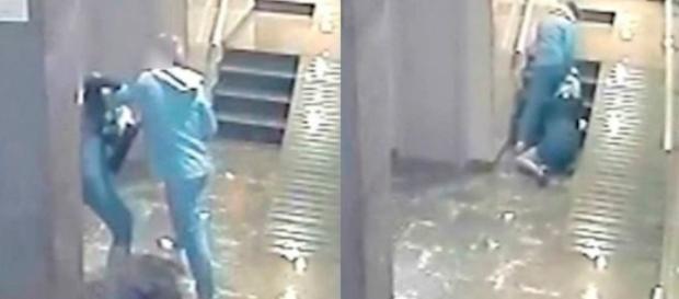 Vídeo mostra momento em que homem arrasta namorada.