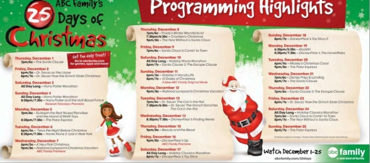 freeforms 25 days of christmas is almost here - Abc 25 Days Of Christmas