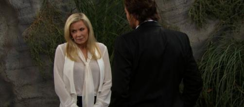 Brooke tries to tell Ridge to leave her and Bill alone, via CBS.com