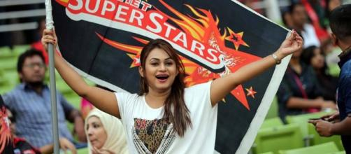 Fan of Sylhet Super Stars during the match of the Bangladesh ... - bdcricteam.com