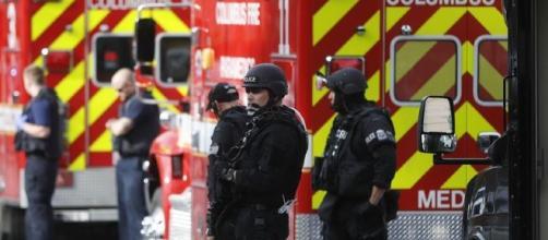 Les autorités sur le lieu de l'attaque