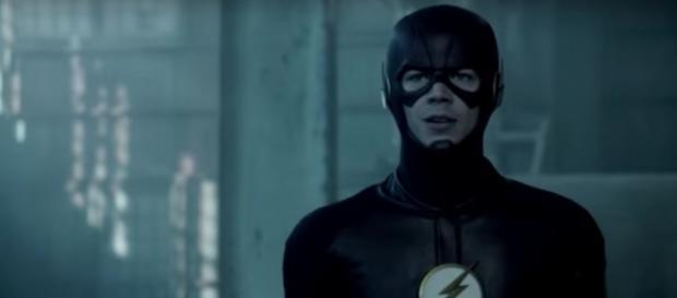 Barry Allen/The Flash (Grant Gustin) in 'Invasion!'/Photo via screencap, 'The Flash'
