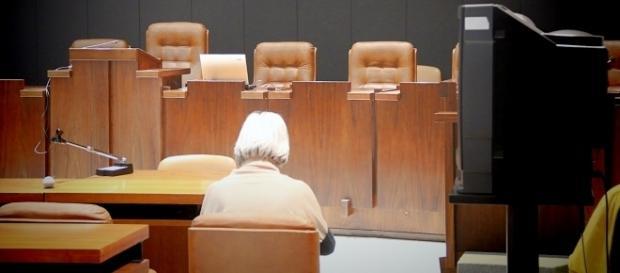 Marta Vincenzi in aula in attesa della sentenza