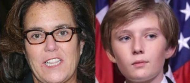 Rosie O'Donnell, Barron Trump, via Twitter