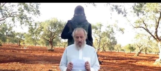 Sergio Zanotti ostaggio in Siria (foto Ansa)