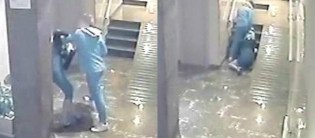 Vídeo mostra homem agredindo covardemente sua companheira.