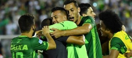 Clube Chapecoense em mais um momento de vitória