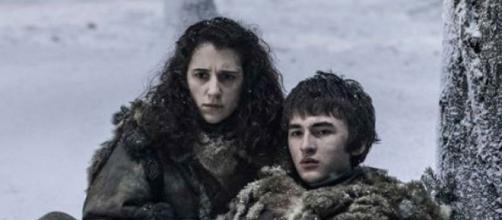 Ellie Kendrick como Meera Reed con Isaac Hempsted como Bran Stark