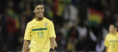 Ronaldinho con la maglia del Brasile