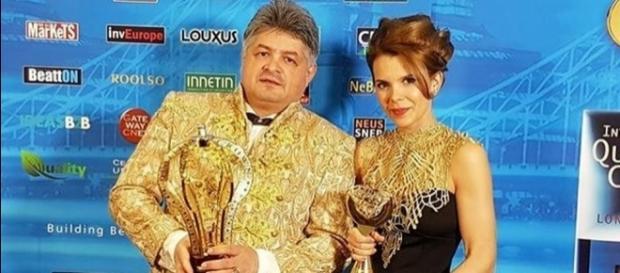 Florin Secureanu și iubita sa la Londra