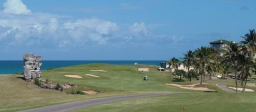 Hole No. 18 at Varadero Golf Club in Cuba. (Photo by Ron Patey)