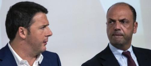 Il Premier Matteo Renzi ed il ministro degli Interni Angelino Alfano.