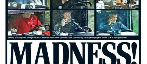 Portada del sensacionalista diario británico 'Daily Mail', atacando a los conductores de camión de origen extranjero.