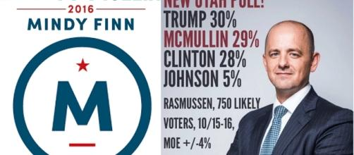 Si Hillary Clinton n'emporte pas 270 voix de grands électeurs, et qu'Evan McMullin emporte les six de l'Utah, alors là...