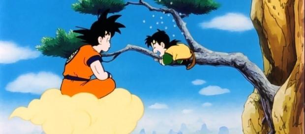 Goku impresionado por su hijo Gohan