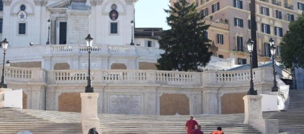 La scalinata di Trinità dei Monti subito dopo il restauro (Foto fonte web)