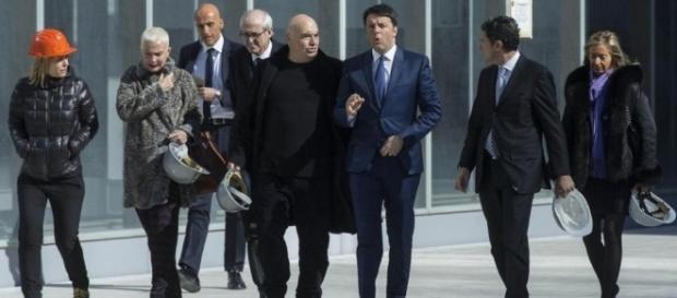 Matteo Renzi visita il cantiere della 'Nuvola' all'Eur | LaPresse - lapresse.it