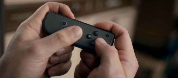 Na foto, um dos controles do novo console da Nintendo