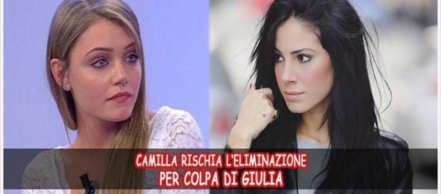 Uomini e Donne anticipazioni: Camilla rischia l'eliminazione per colpa di Giulia De Lellis