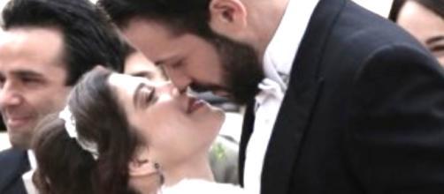 Candela e Severo il giorno del loro matrimonio.