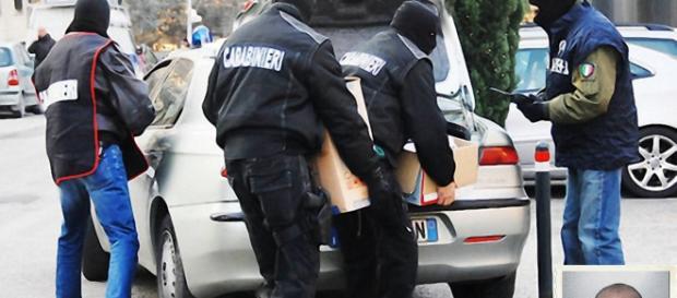 Ignazio Orrù,nella foto piccola in basso a destra è stato arrestato dai Carabinieri.