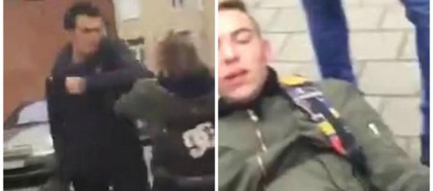 Momento em que a vítima bate no agressor