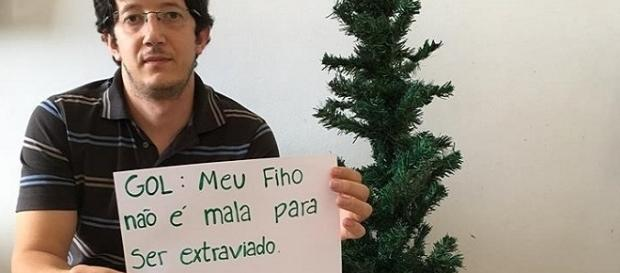 O professor Wanderson Romão denunciou o caso do desaparecimento do filho nas redes sociais
