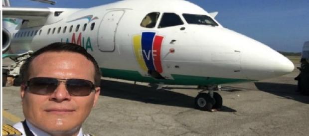Piloto morreu como herói - Imagem/Google