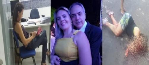 A acusada na delegacia (à esquerda) e a vítima (Fotos: Josenildo/JB Notícias)