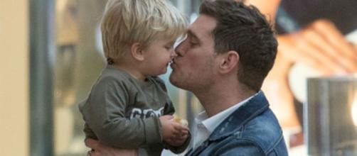 Michael Bublé e suo figlio Noah