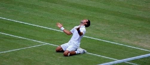 Novak Djokovic after he originally claimed top spot at Wimbledon 2011 (credit: Carine06 - Flickr.com)