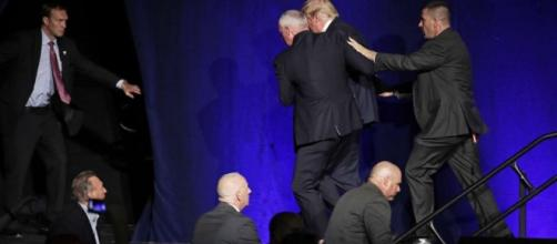 Trump rushed off stage at rally by Secret Service after false gun ... - scmp.com