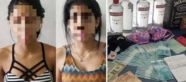 Garotas usavam dinheiro falso para fazer compras