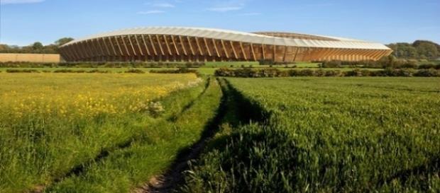 The New Lawn, primeiro estádio de madeira da Europa