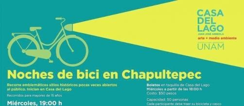 Anuncian paseos nocturnos en bici en Chapultepec
