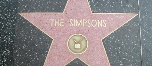 I Simpson sulla Hollywood Walk o Fame.