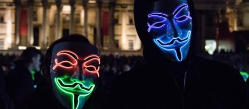 Million Mask March descends on London ... - thesun.co.uk