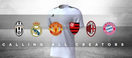 Torcedores desenharão terceiro uniforme de seis clubes da Adidas