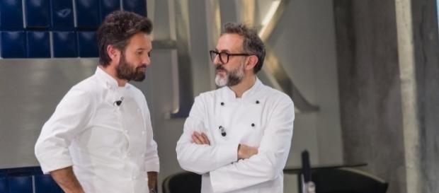 Carlo Cracco e Massimo Bottura a Hell's Kitchen