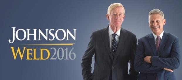 Gary Johnson e William Weld são os candidatos do Partido Libertário.