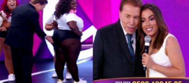 Silvio Santos e Anitta - Foto/Montagem