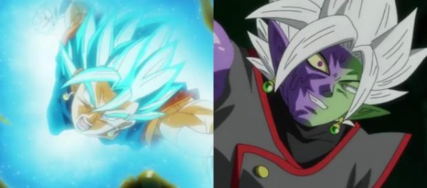 Vegetto pelea contra la fusión Zamasu