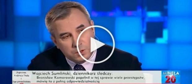 """Wojciech Sumliński w TVP Info w programie """"Minęła 20""""."""