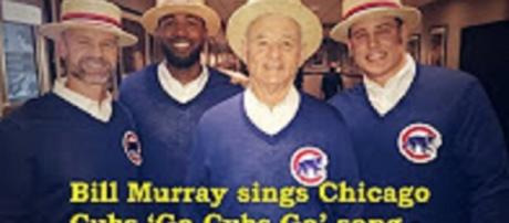 Source: Youtube Breaking News Channel: Bill Murray sings Chicago Cubs 'Go Cubs Go' song - 'Saturday Night Live'